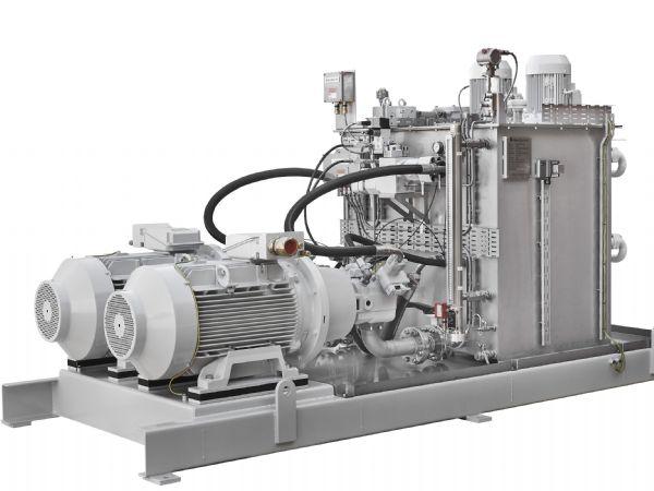 Hos den nordjyske hydraulikvirksomhed Serman & Tipsmark er man i fuld gang med at bygge et centralt hydraulikanlæg til DTU Vindenergi. Anlægget er en High Pressure Unit, der ligner dette anlæg til flydende offshoreproduktion. (Illustration: Serman & Tipsmark)