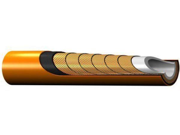 Med sine seks spirallag af stålwire med stor trækstyrke tilbyder Parker PFX30-05 forlænget drift ved ekstra højt tryk, fremhæver producenten.