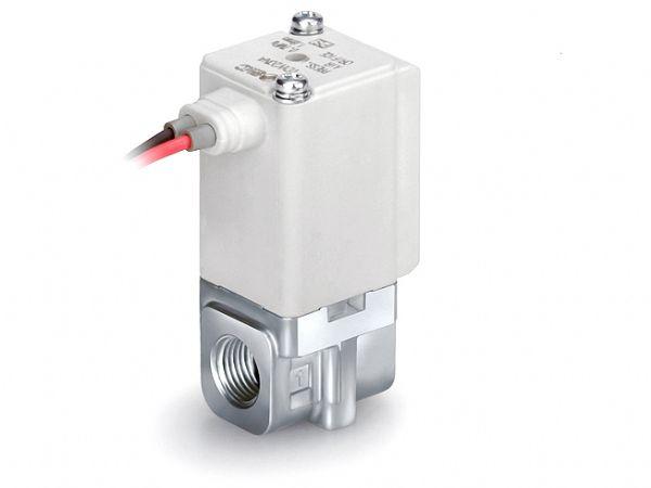 SMC's aktuelt lancerede VDW-magnetventil, fremhæves som en kompakt magnetventil.